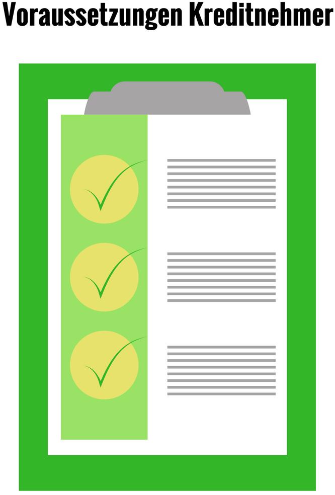 checkliste mit voraussetzungen für Kreditnehmer