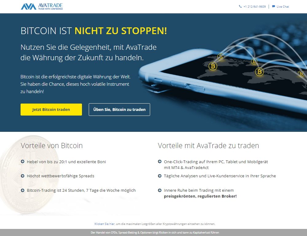 avatrade bitcoin homepage